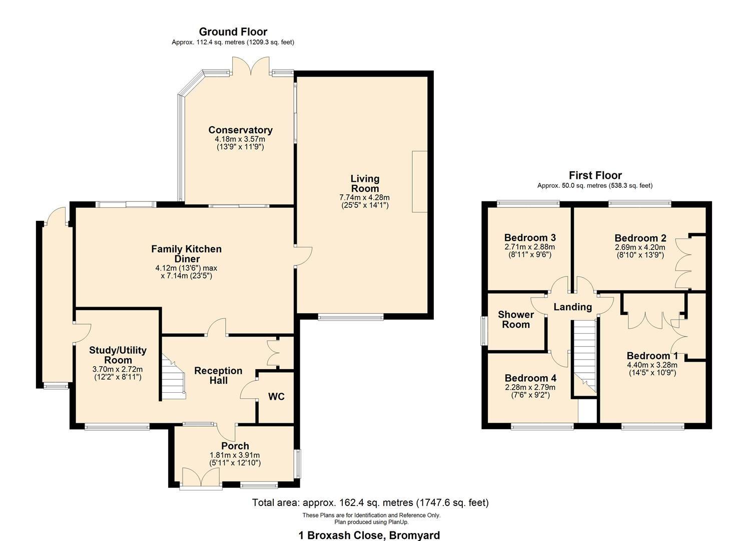4 bed detached for sale in Bromyard - Property Floorplan
