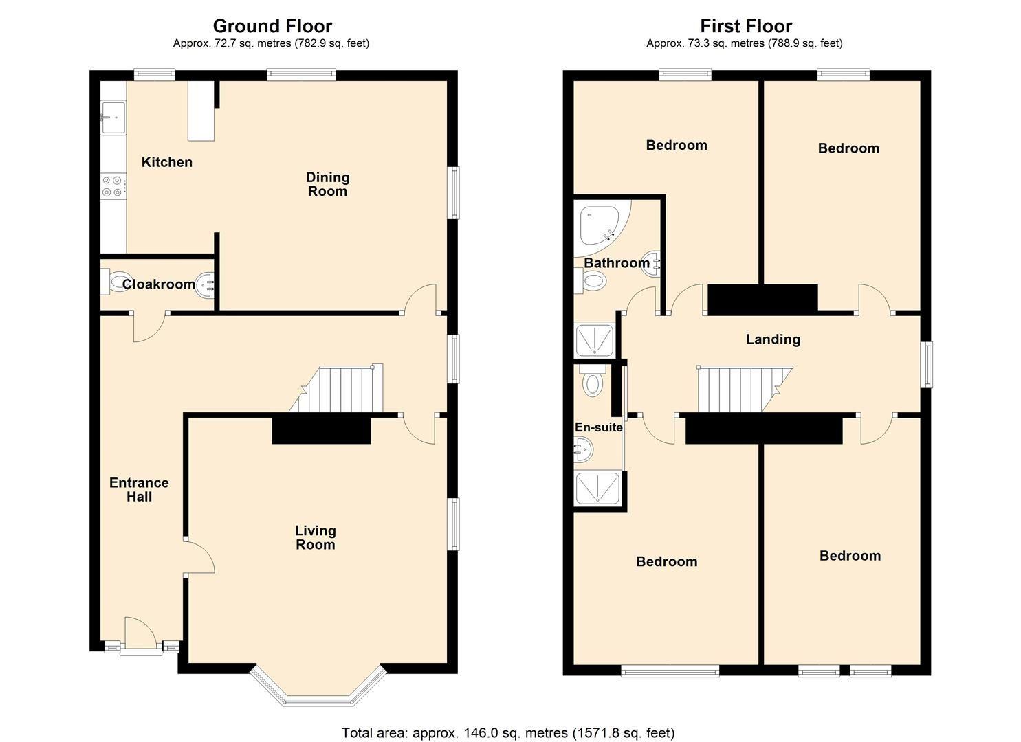 4 bed semi-detached for sale in Etnam Street, Leominster - Property Floorplan
