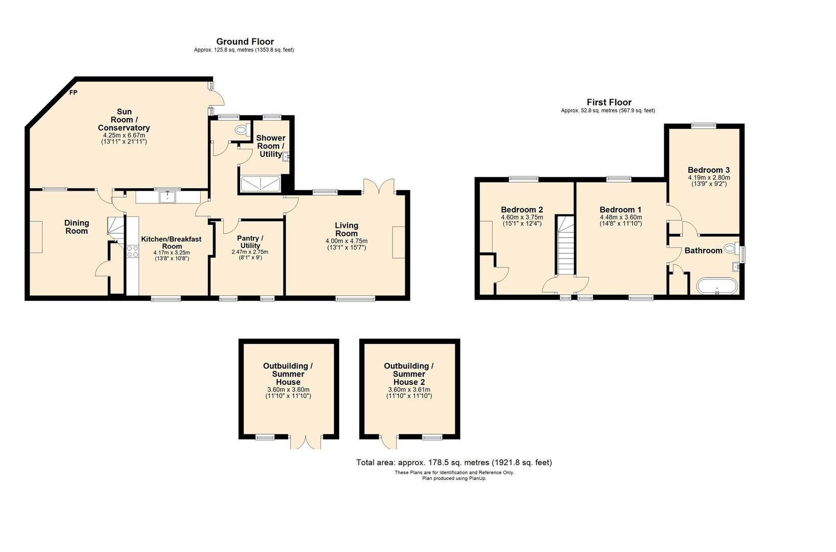 3 bed cottage for sale in Cross Keys - Property Floorplan