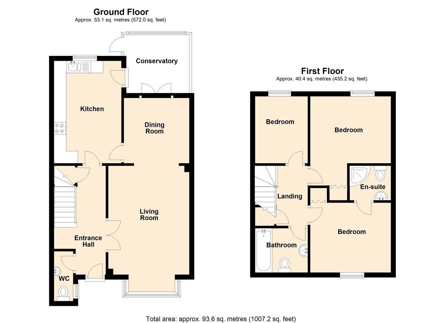 3 bed terraced for sale in Eardisley - Property Floorplan