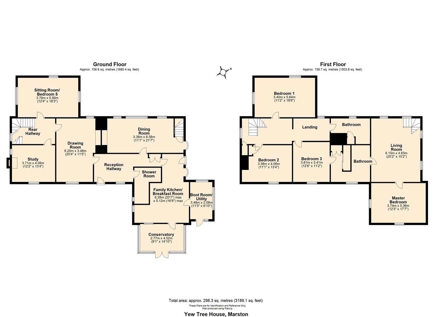 5 bed detached for sale in Marston - Property Floorplan