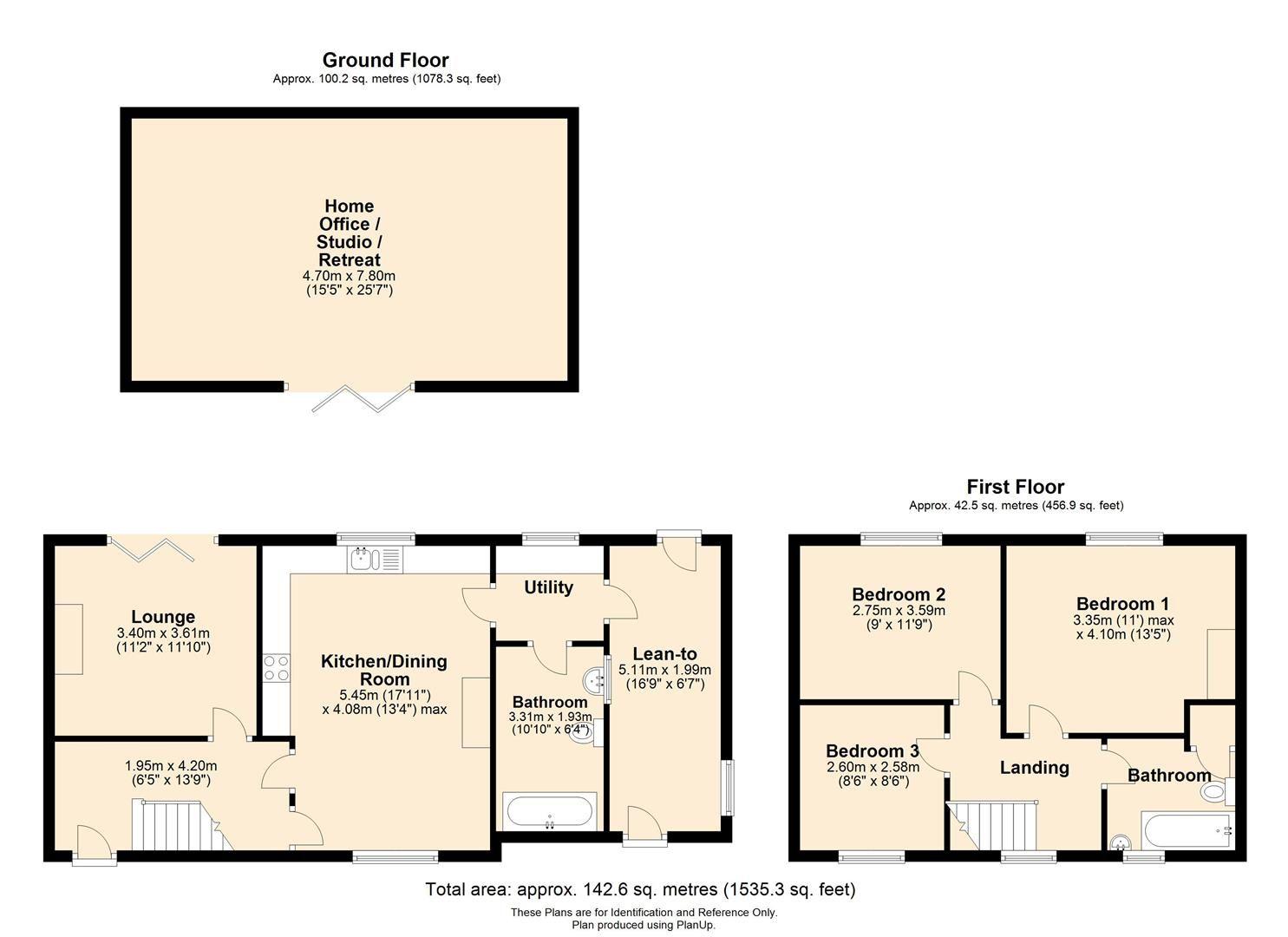 3 bed semi-detached for sale in Eardisley - Property Floorplan