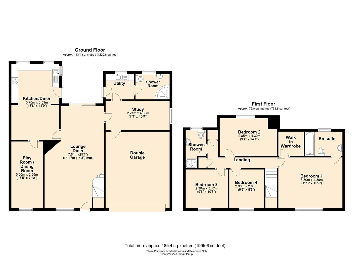 4 bed semi-detached for sale in Clehonger - Property Floorplan