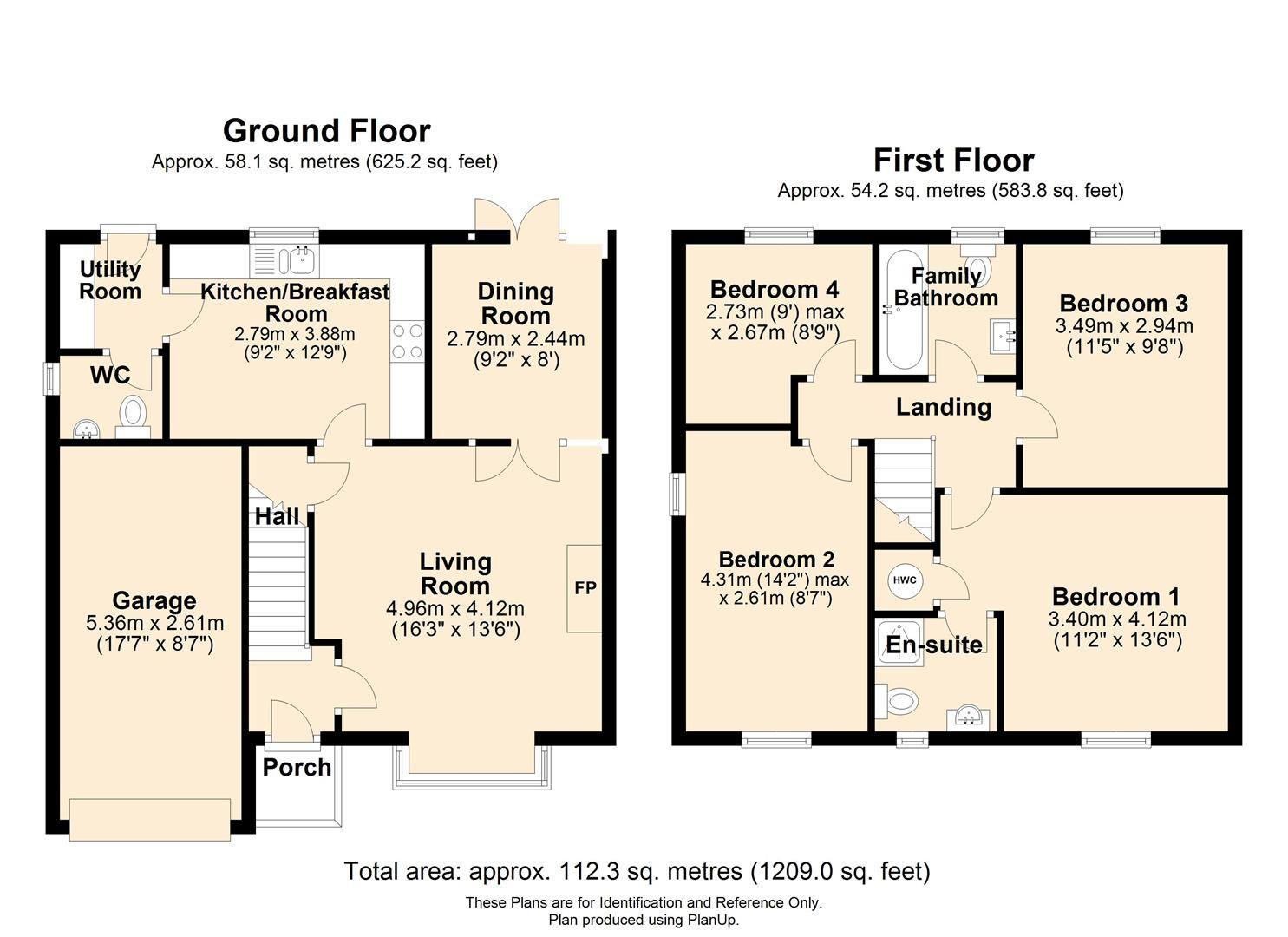 4 bed detached for sale in Belmont - Property Floorplan
