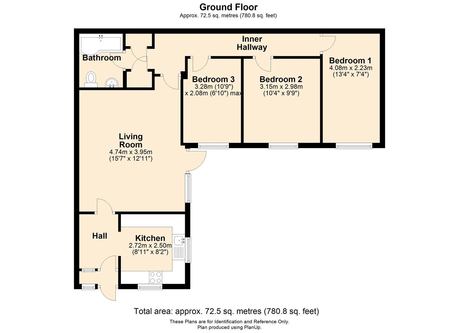 3 bed semi-detached bungalow for sale in Peterchurch - Property Floorplan
