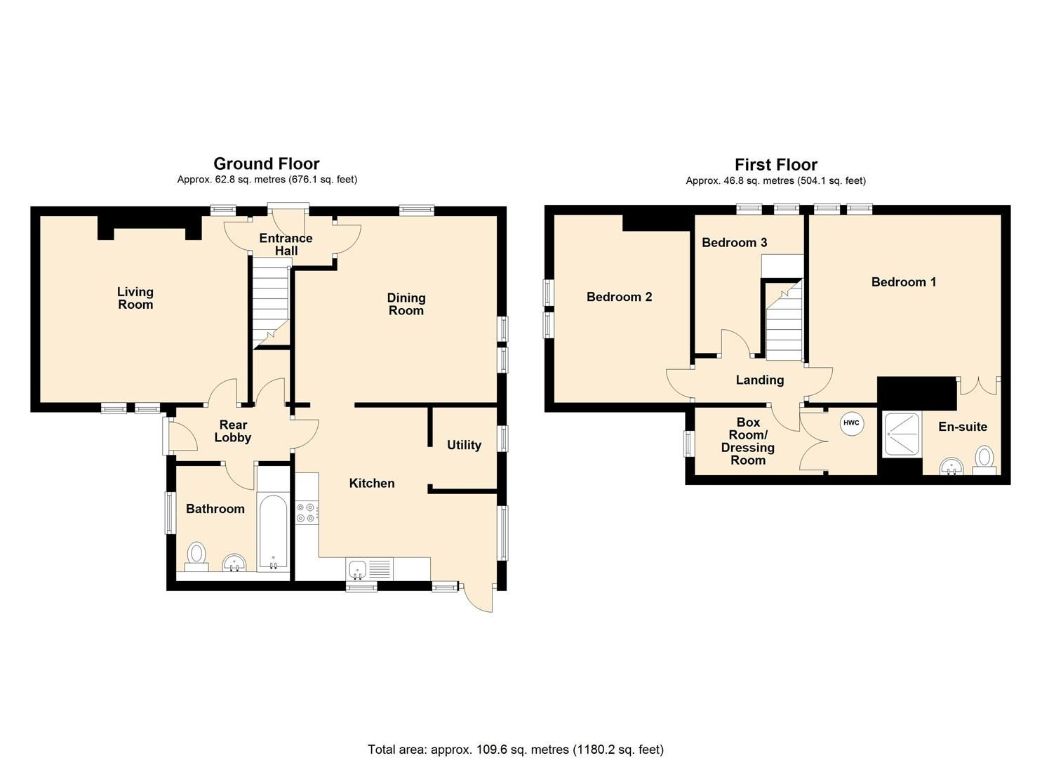3 bed cottage for sale in Pembridge - Property Floorplan