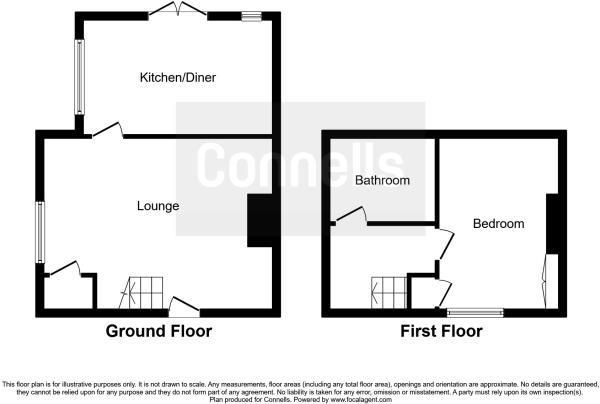 1 bed end-of-terrace for sale in Callow - Property Floorplan