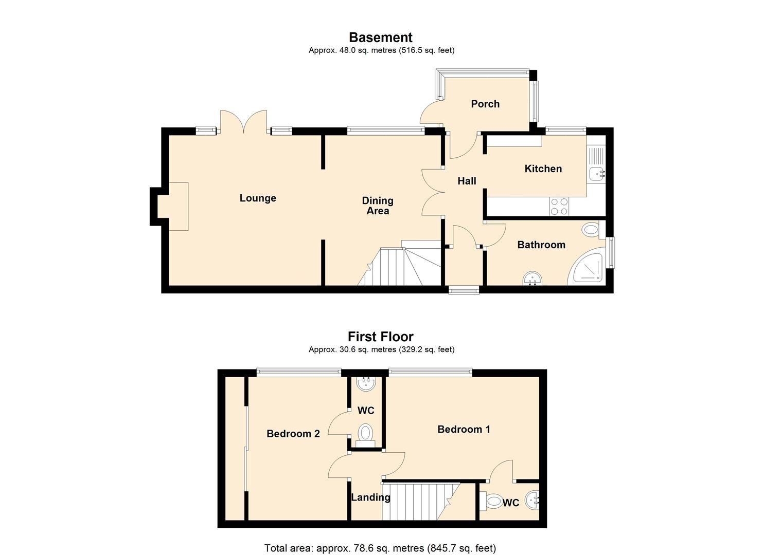 2 bed house for sale in Aymestrey - Property Floorplan