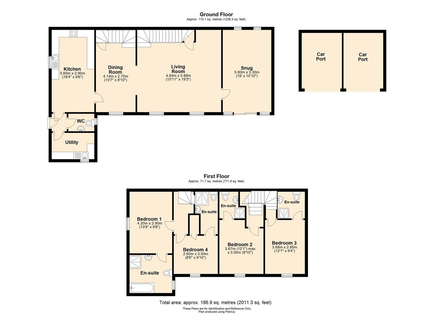 4 bed barn conversion for sale in Burghill - Property Floorplan