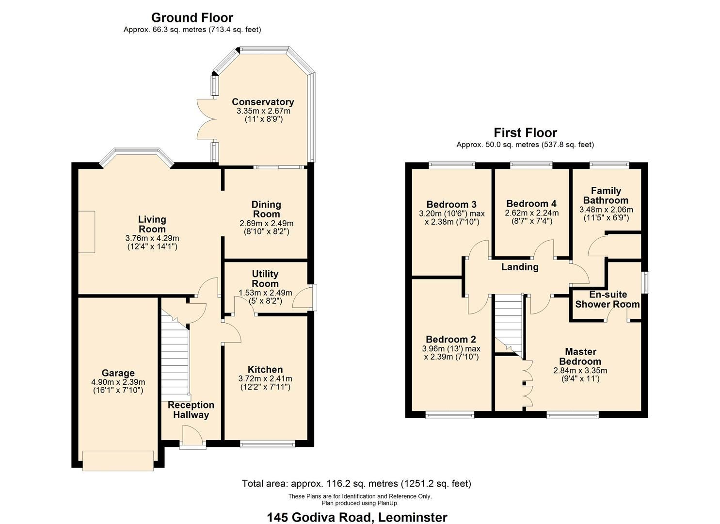 4 bed detached for sale in Leominster - Property Floorplan
