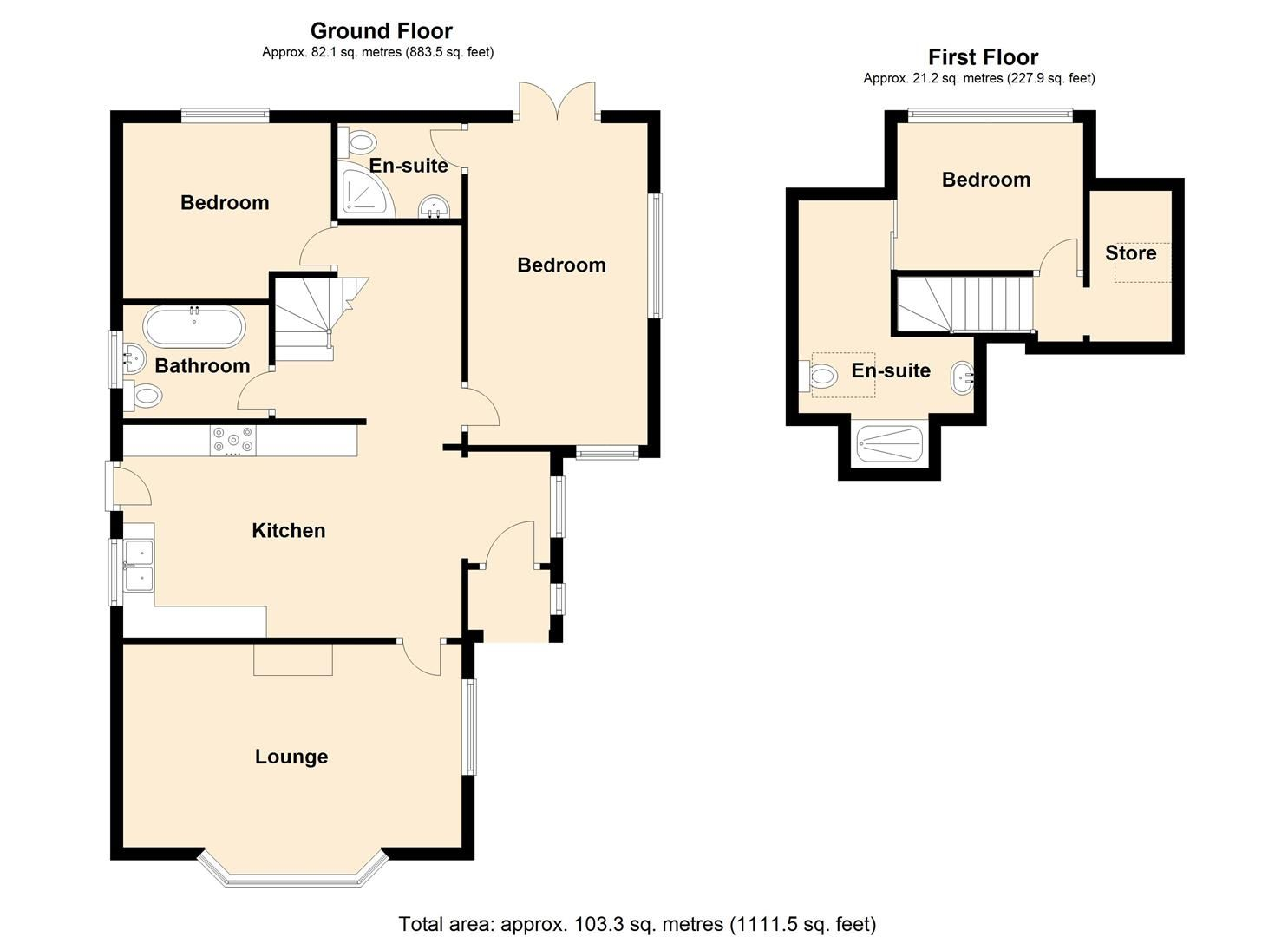 3 bed detached bungalow for sale - Property Floorplan