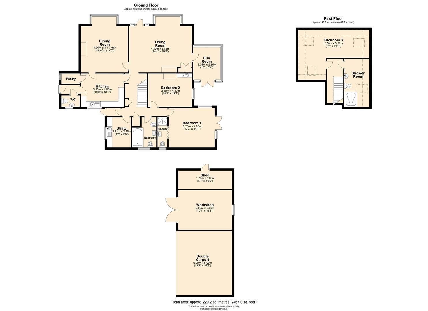 3 bed detached bungalow for sale in Abbeydore - Property Floorplan