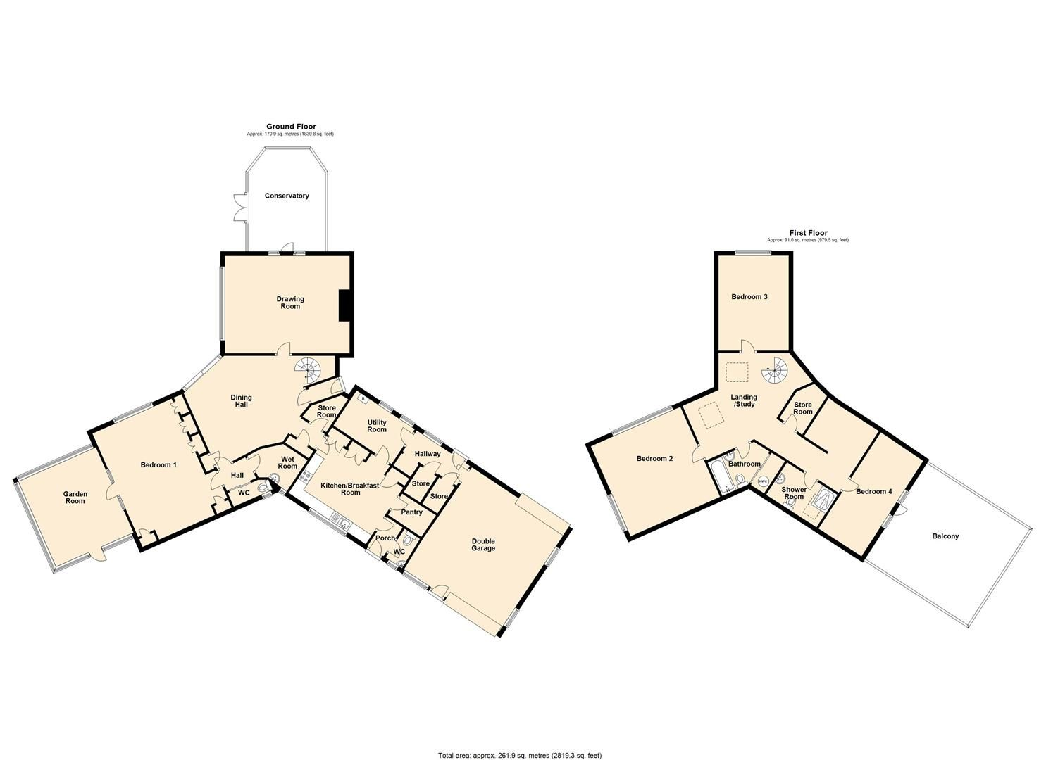 4 bed country house for sale in Hamnish - Property Floorplan