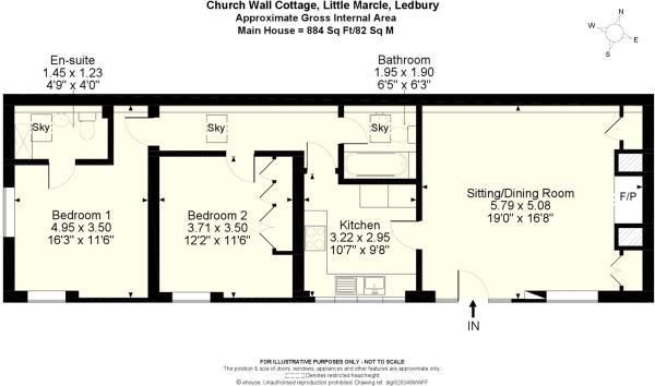 2 bed barn conversion for sale in Little Marcle - Property Floorplan