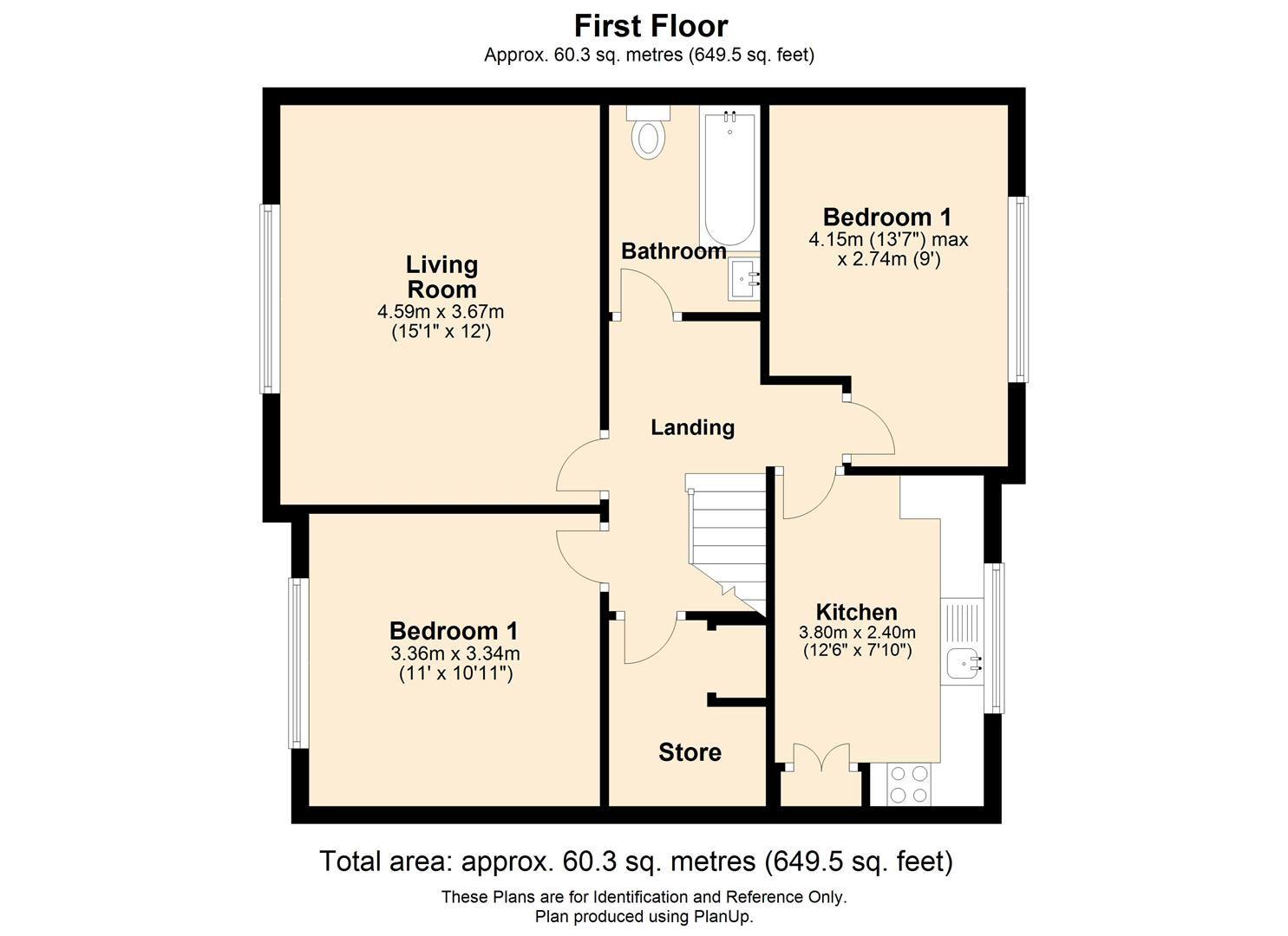2 bed maisonette for sale - Property Floorplan