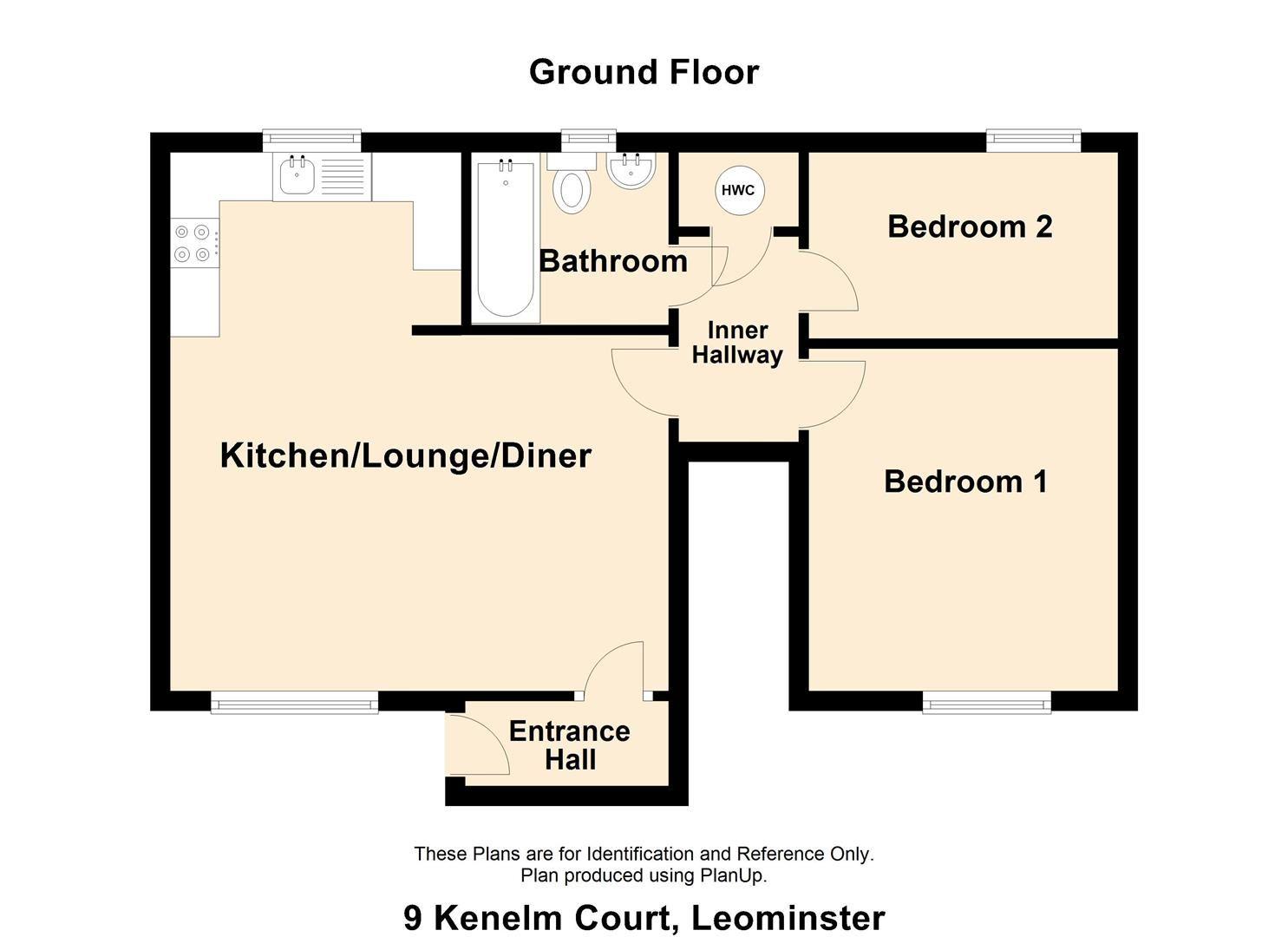 2 bed maisonette for sale in Leominster - Property Floorplan
