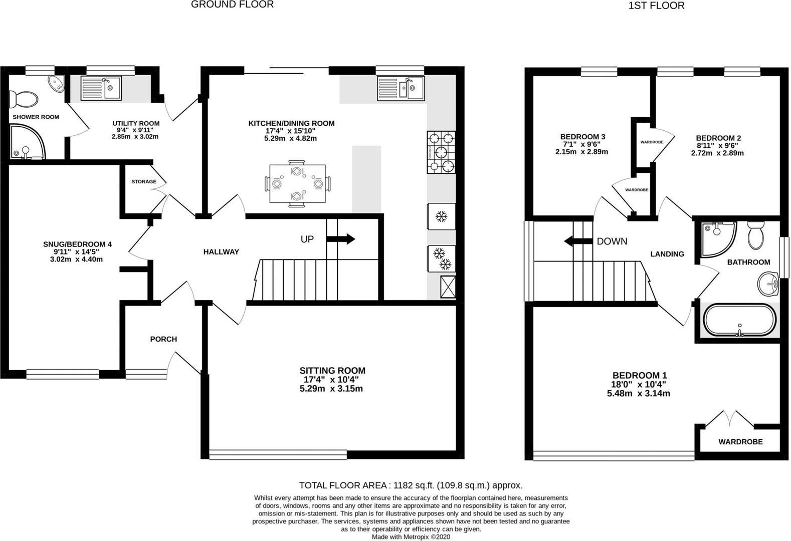 4 bed detached for sale in Marden - Property Floorplan