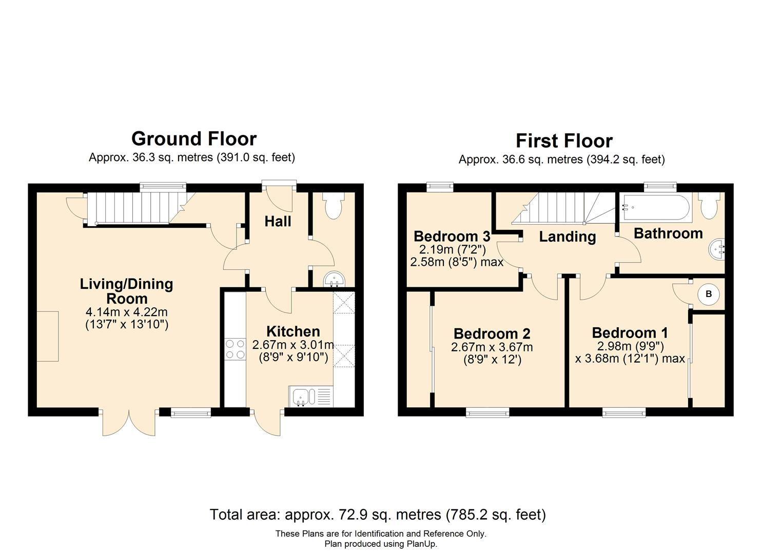 3 bed terraced to rent in Wellington - Property Floorplan