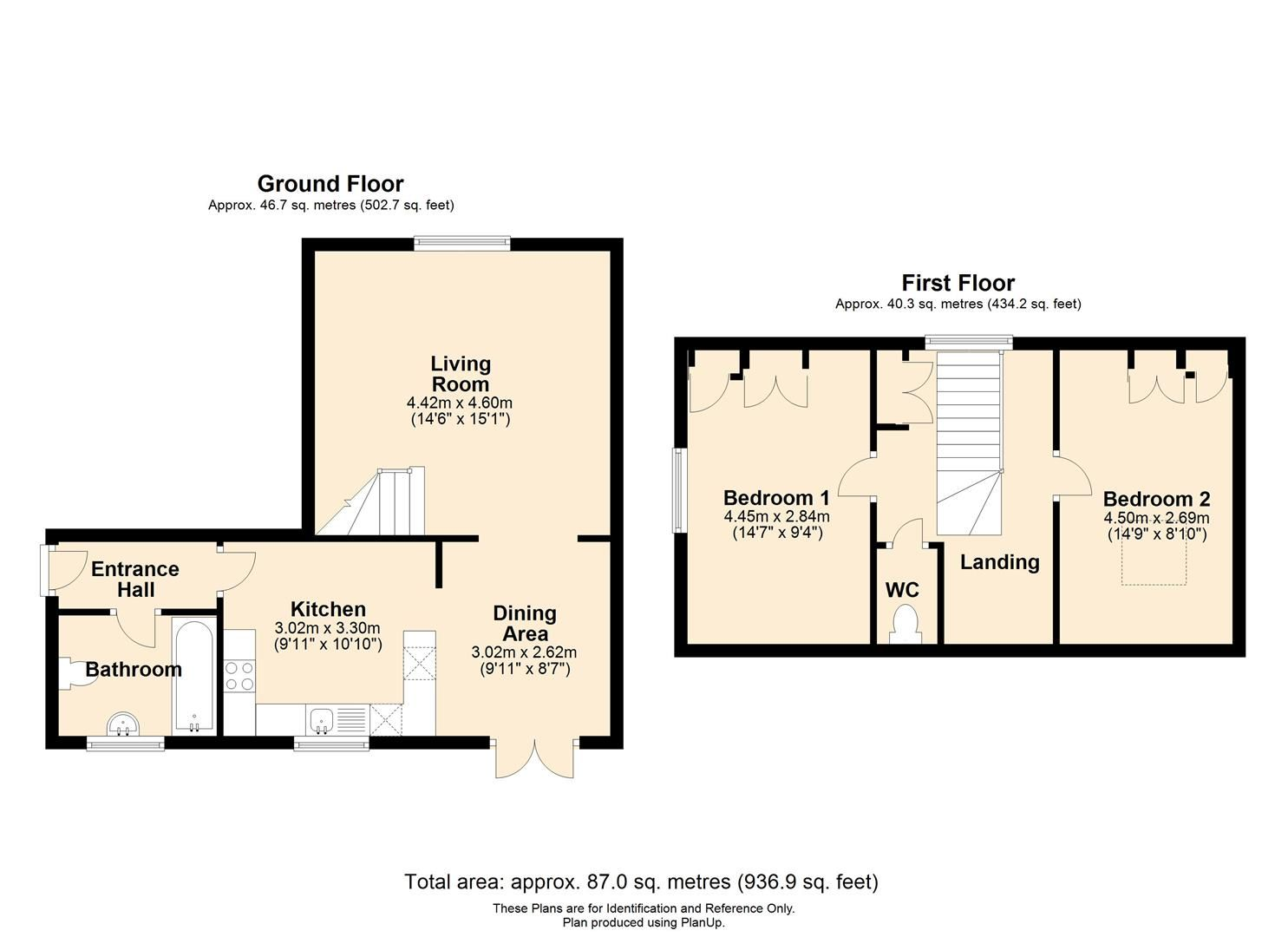 2 bed coach house to rent in Fownhope - Property Floorplan