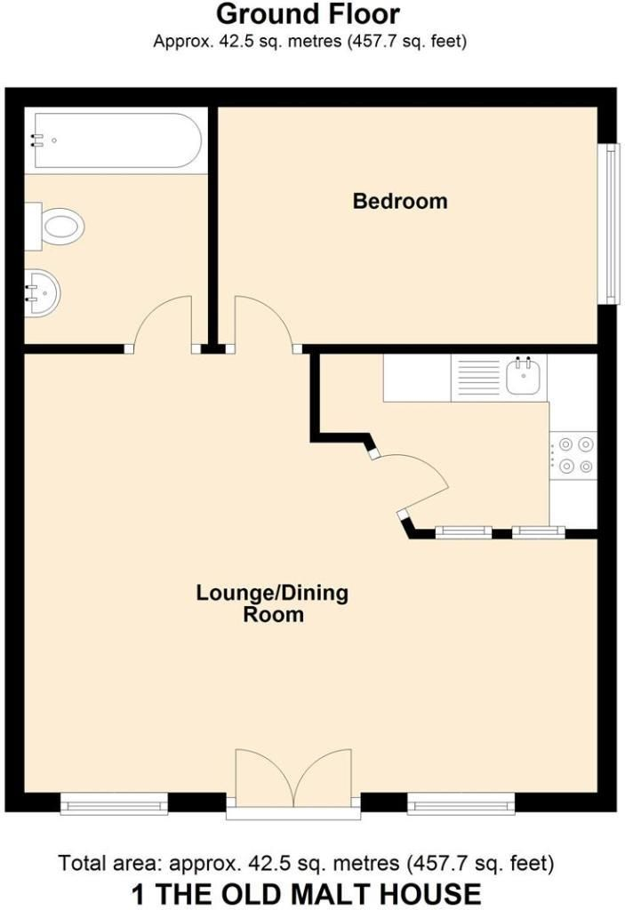 1 bed maisonette for sale in Leominster - Property Floorplan
