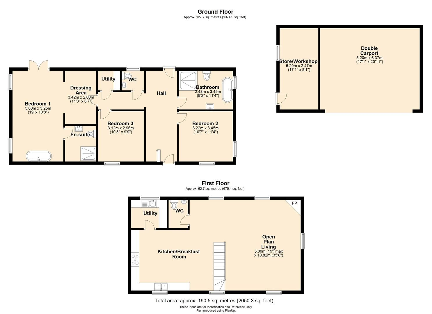 3 bed barn conversion for sale in Madley - Property Floorplan