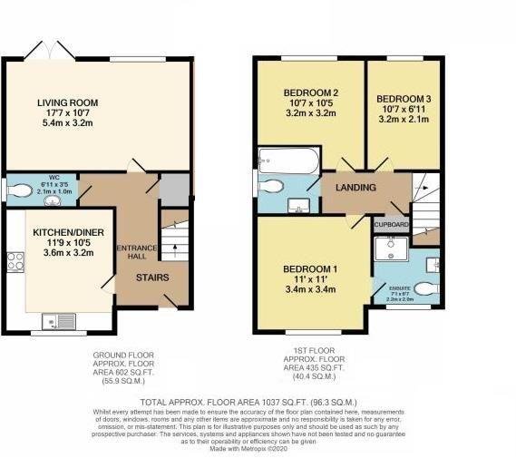 3 bed semi-detached for sale in Bodenham - Property Floorplan