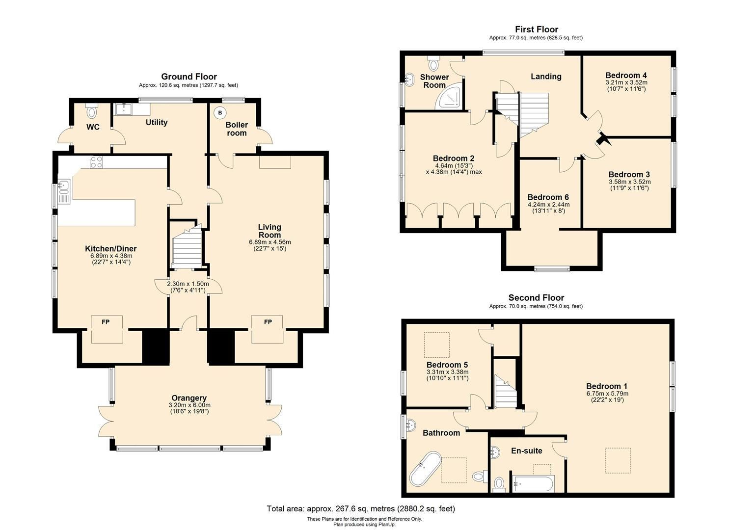 6 bed detached for sale in Wormsley - Property Floorplan