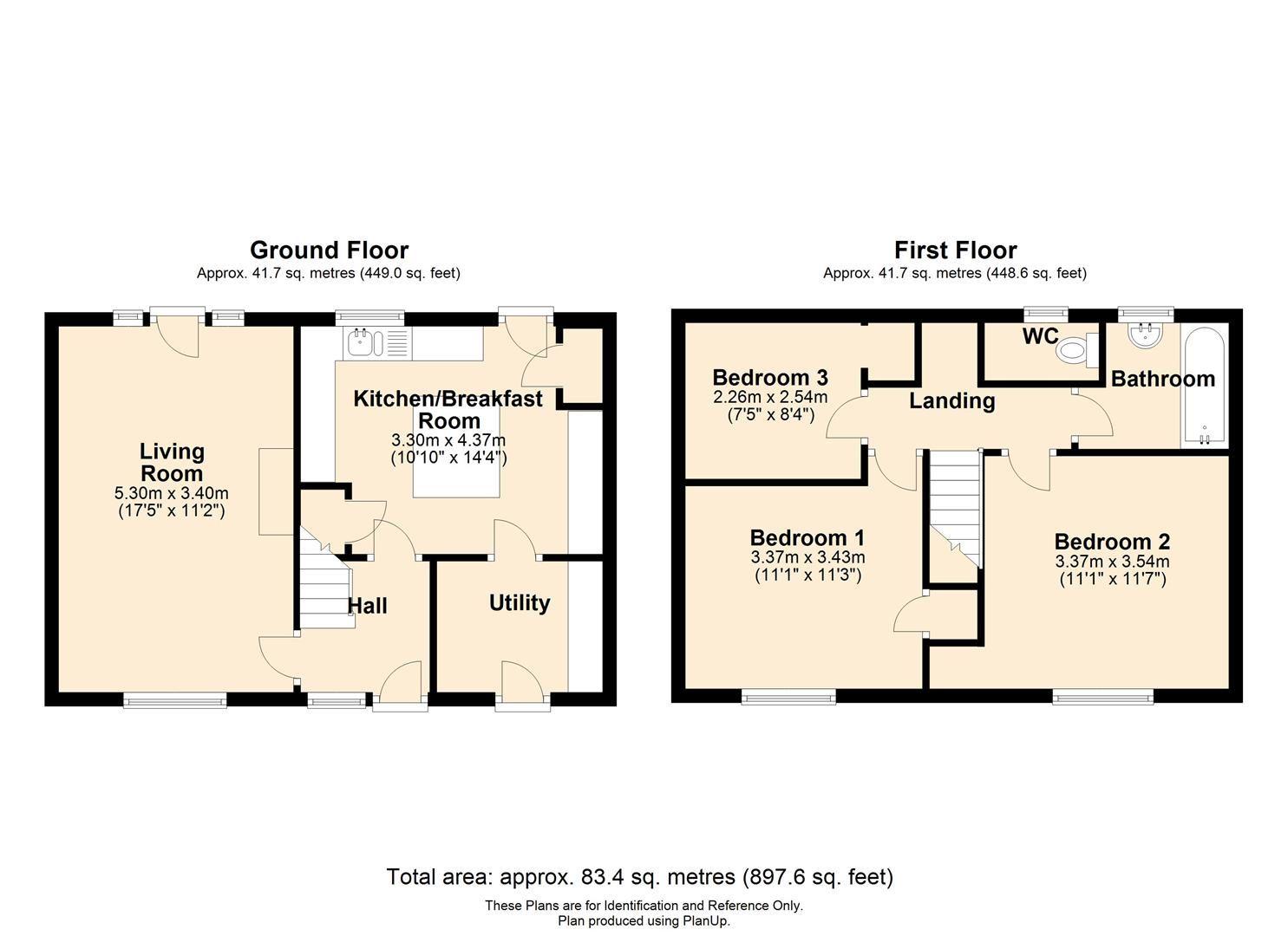 3 bed terraced for sale in Weobley - Property Floorplan