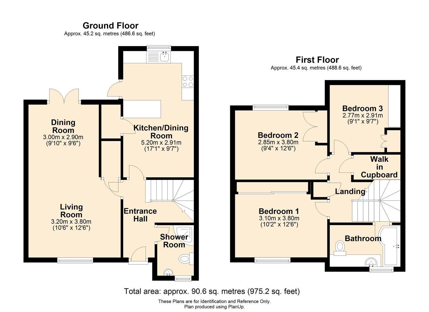 3 bed semi-detached to rent - Property Floorplan