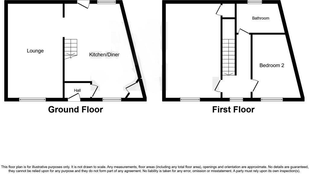 2 bed terraced for sale - Property Floorplan