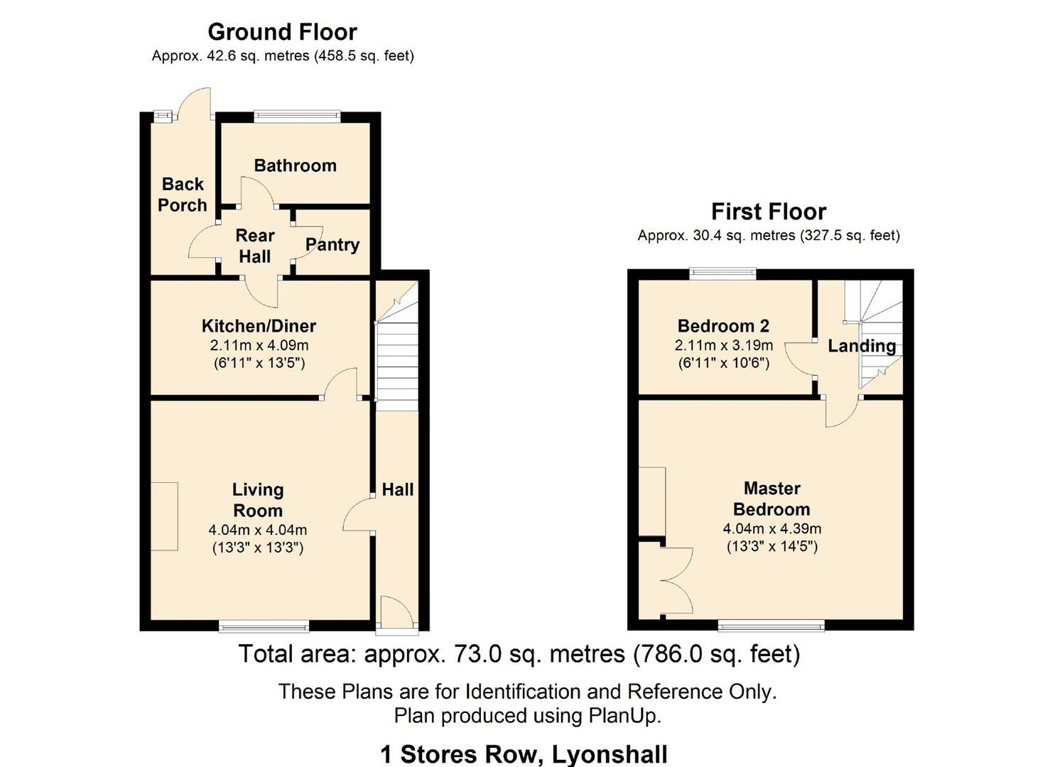 2 bed terraced for sale in Lyonshall - Property Floorplan