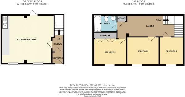 3 bed detached for sale in Belmont - Property Floorplan