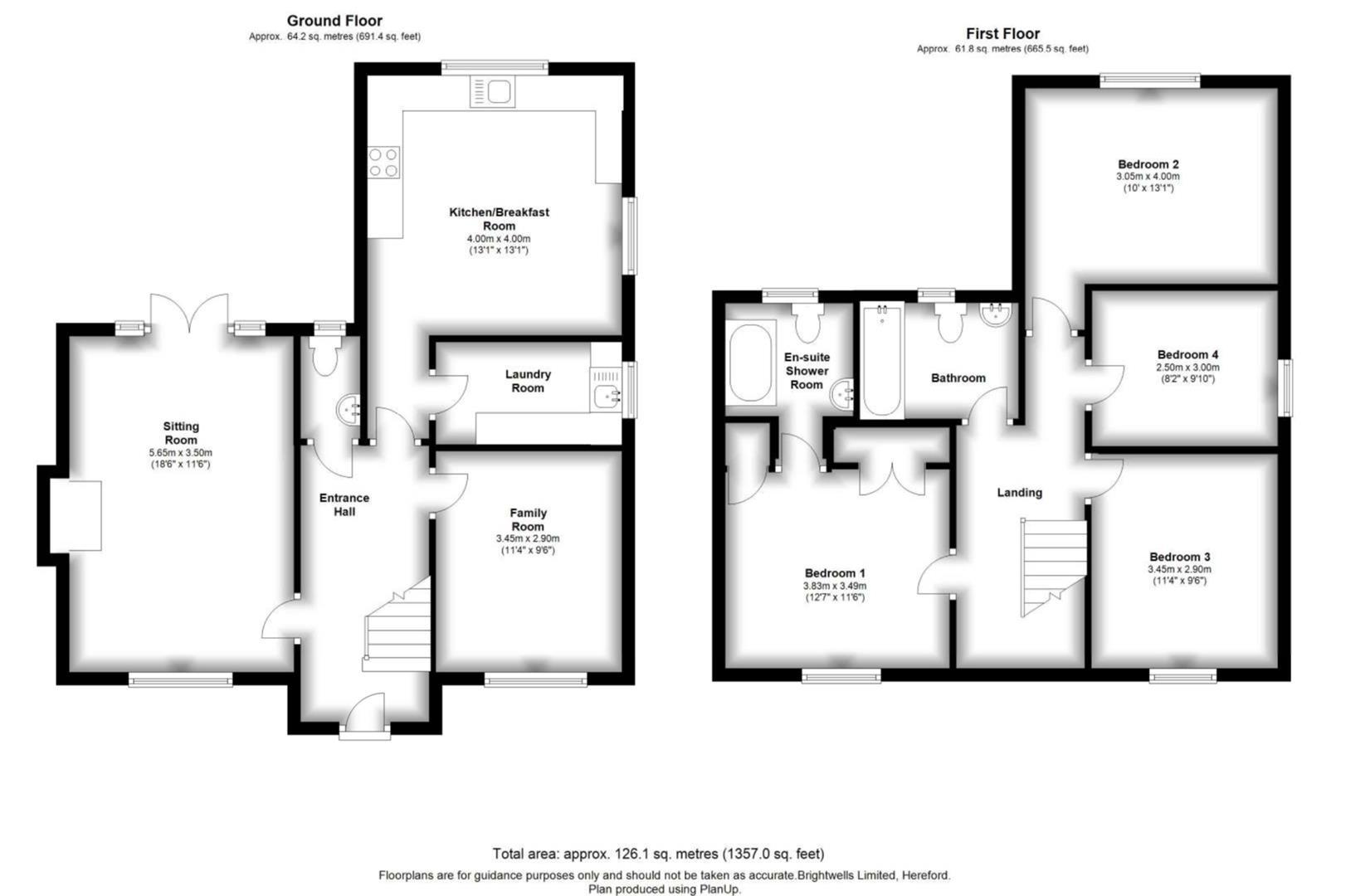4 bed detached for sale in Eardisley - Property Floorplan