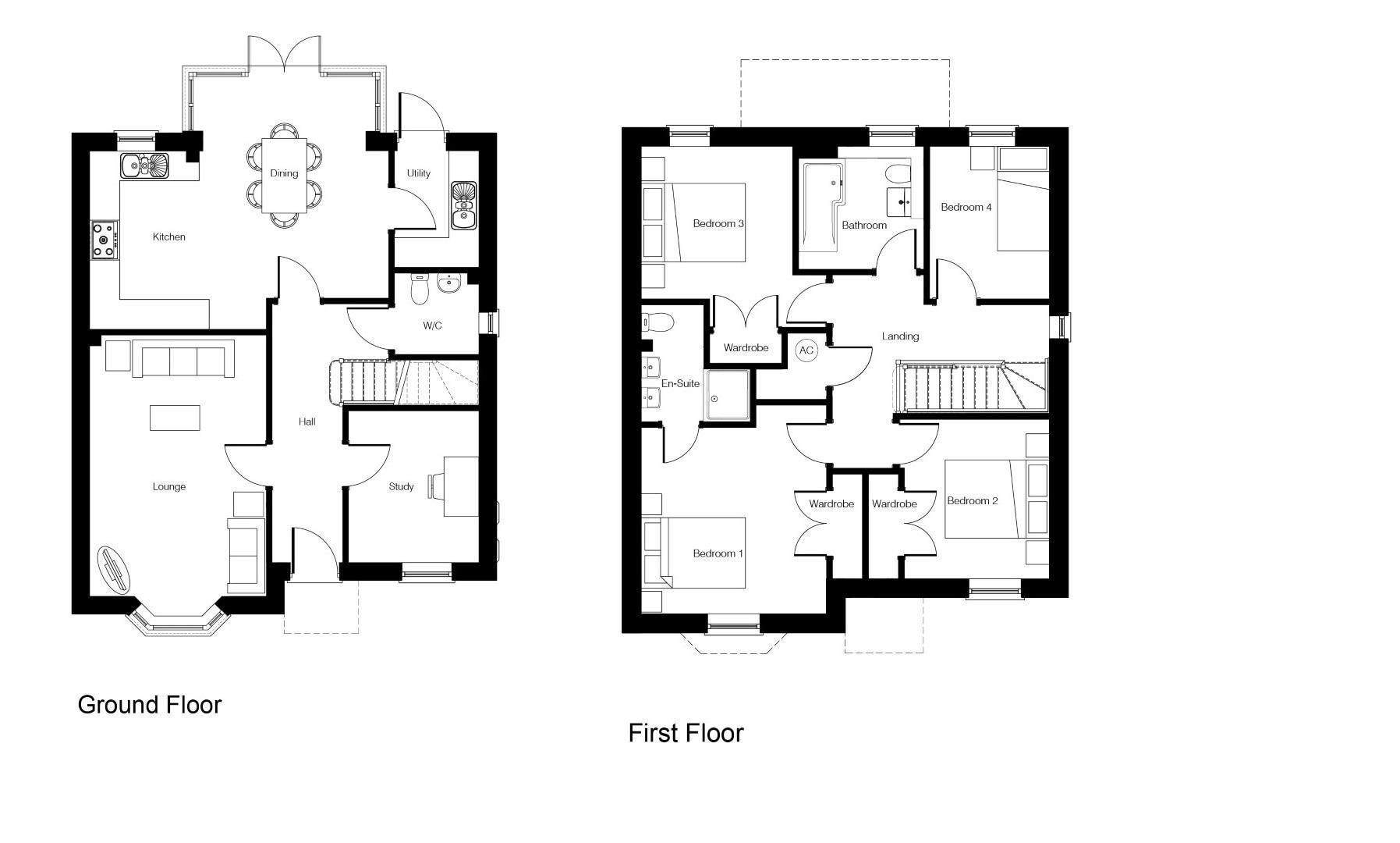 4 bed detached for sale in Kingstone - Property Floorplan