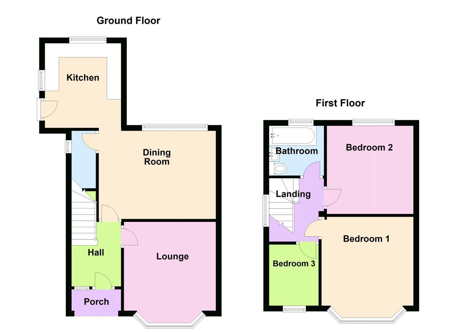 3 bed house to rent in Lyttleton Avenue - Property Floorplan