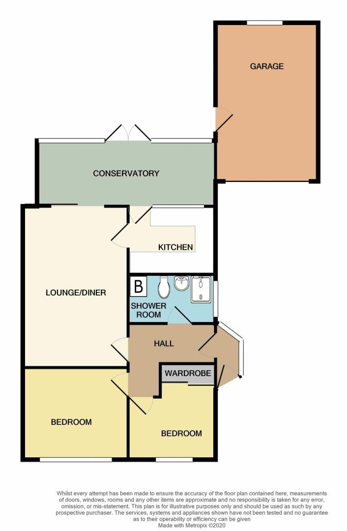 2 bed bungalow for sale in Woodbury Road - Property Floorplan