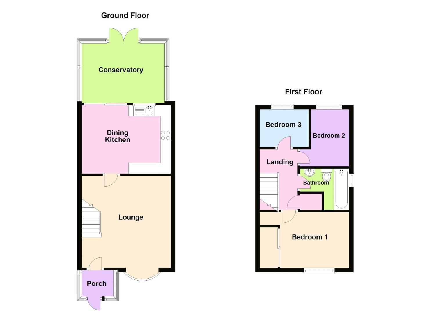 3 bed house for sale in Upper Ashley Street - Property Floorplan