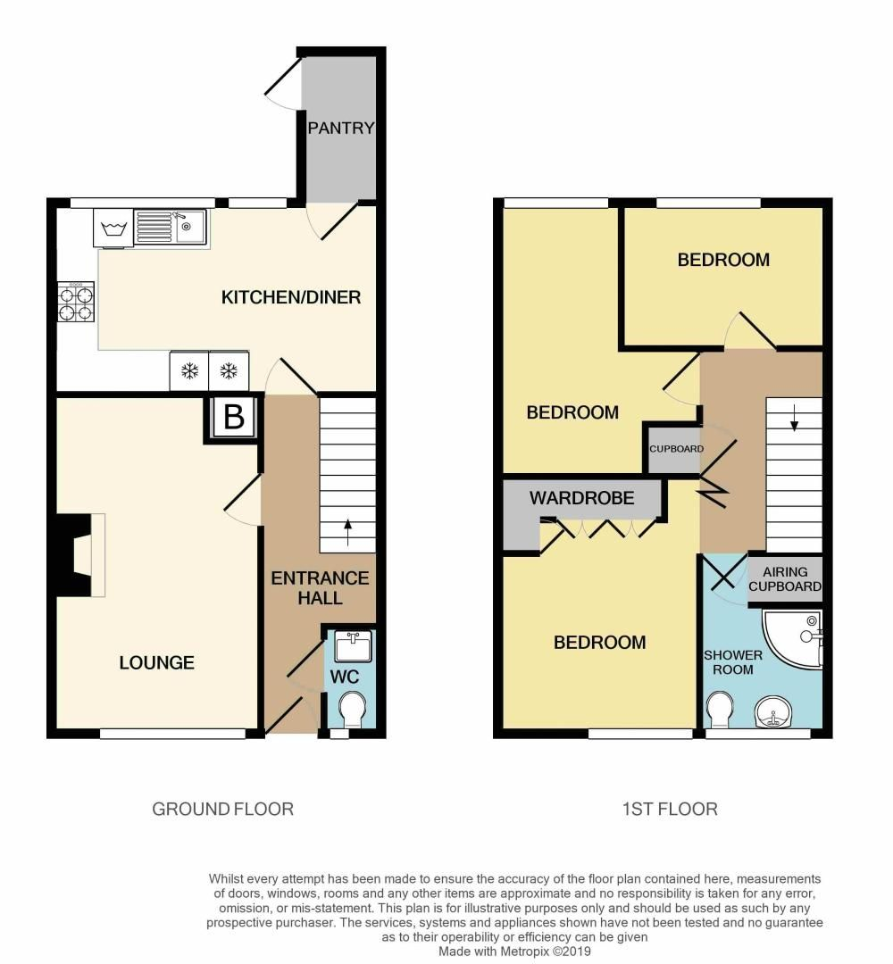3 bed house for sale in Barn Piece - Property Floorplan