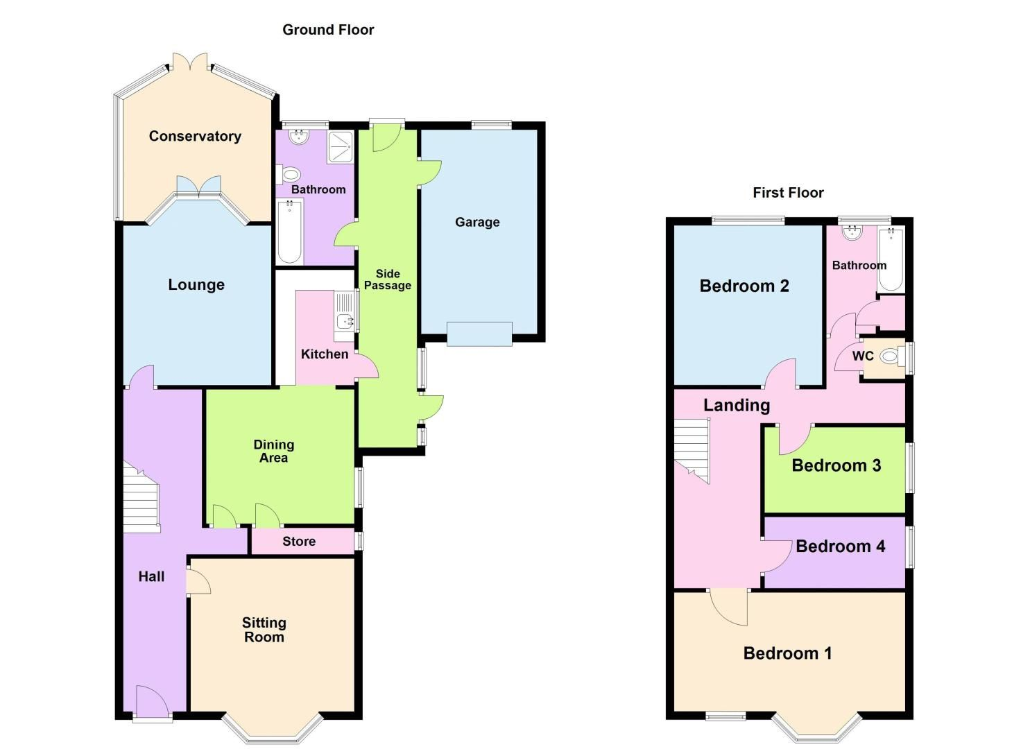 4 bed house for sale in West Park Road - Property Floorplan