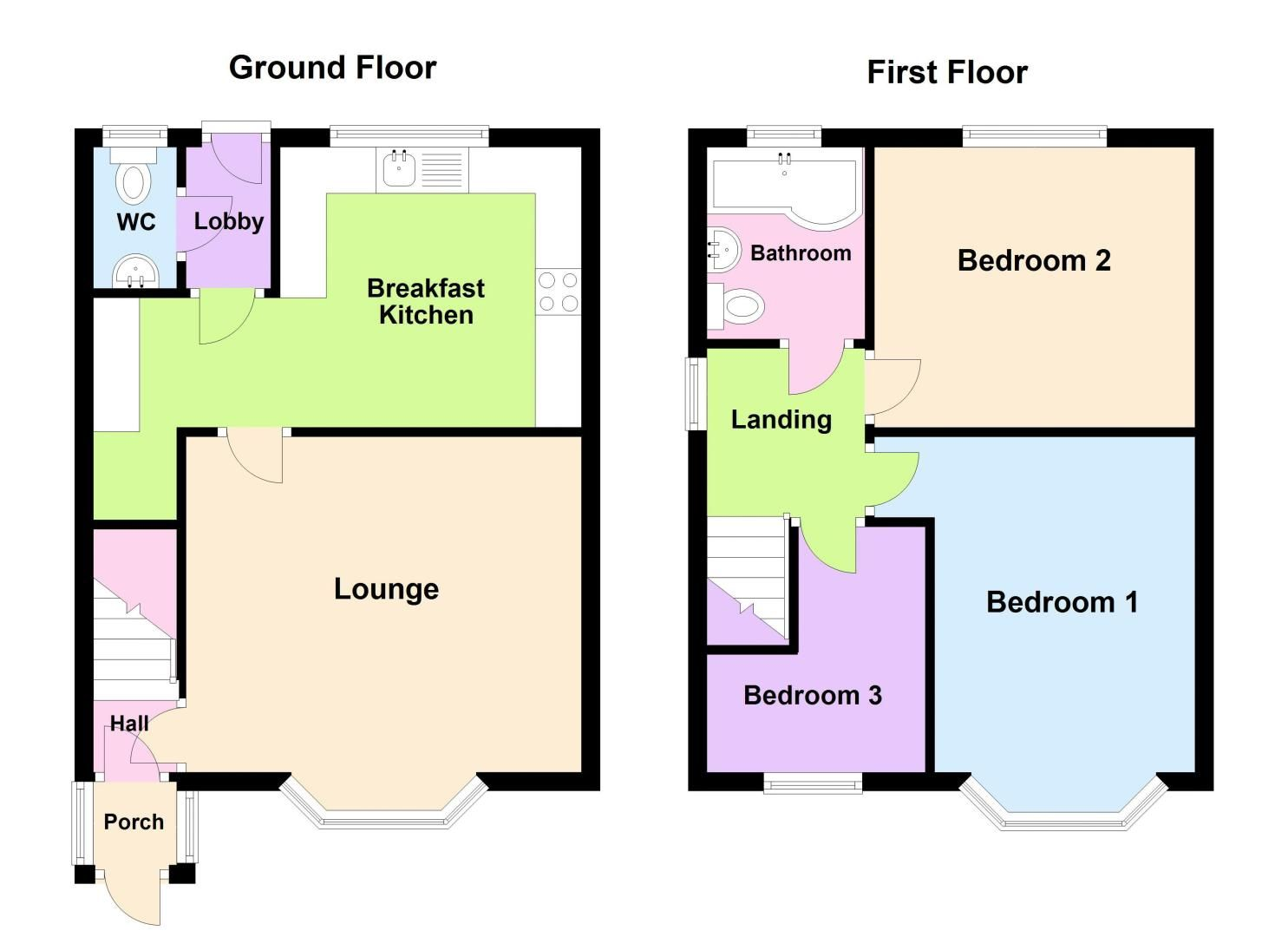 3 bed house for sale in Edmonds Road - Property Floorplan