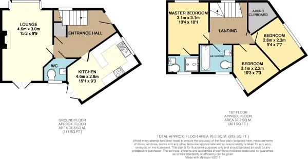 3 bed house for sale in Old College Avenue - Property Floorplan