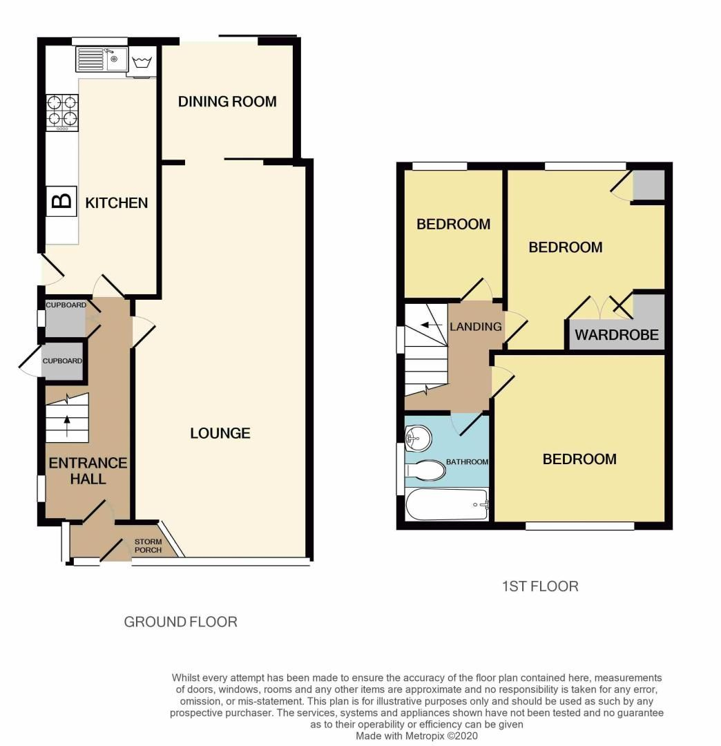 3 bed house for sale in Lewis Road - Property Floorplan