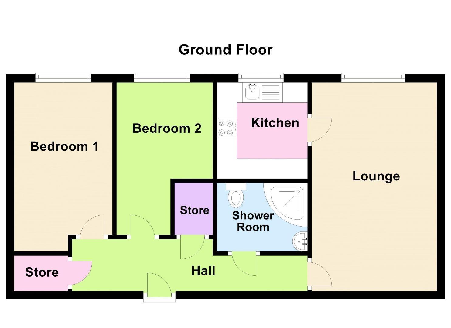 2 bed  for sale in Sandon Road - Property Floorplan