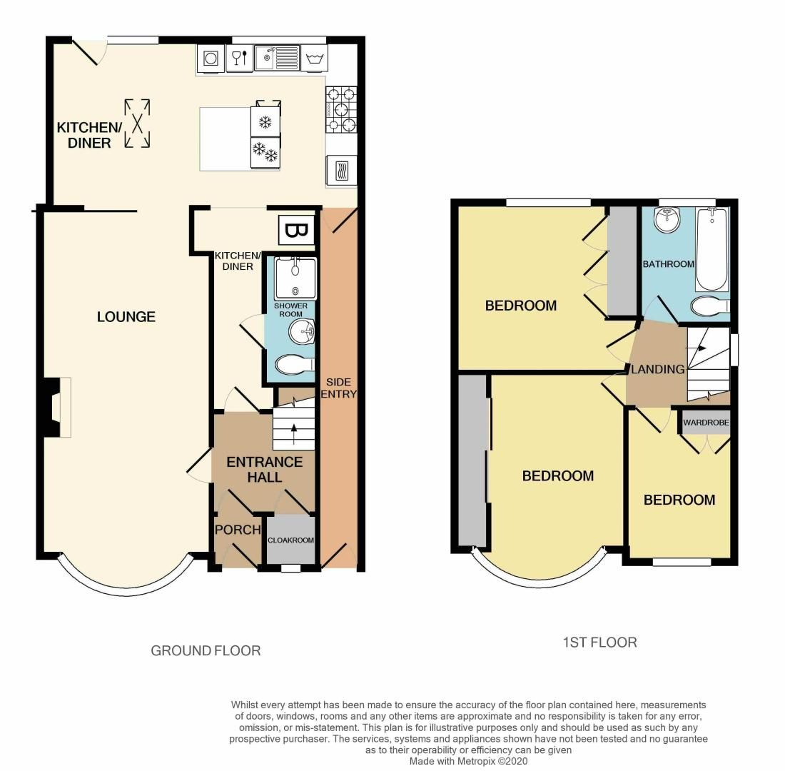 3 bed house for sale in Bent Avenue - Property Floorplan
