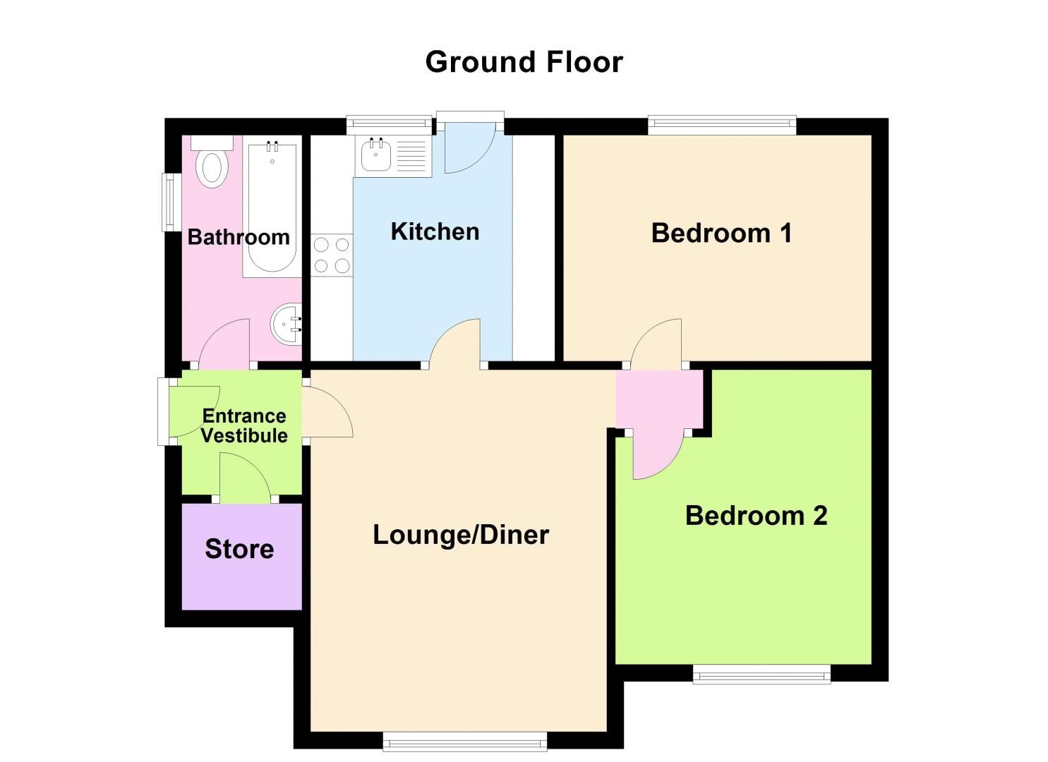 2 bed flat for sale in Lee Gardens - Property Floorplan