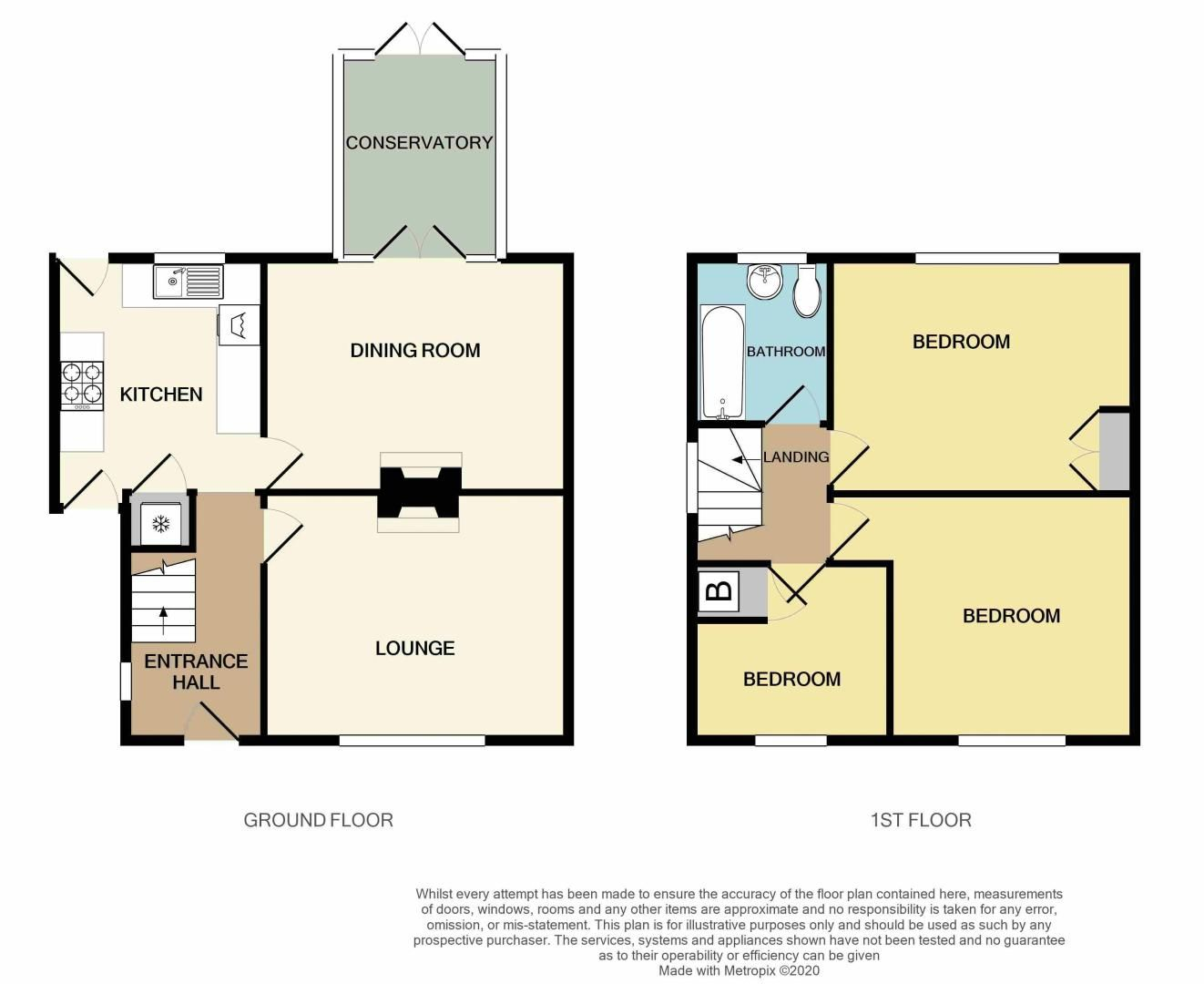 3 bed house for sale in Hales Crescent - Property Floorplan