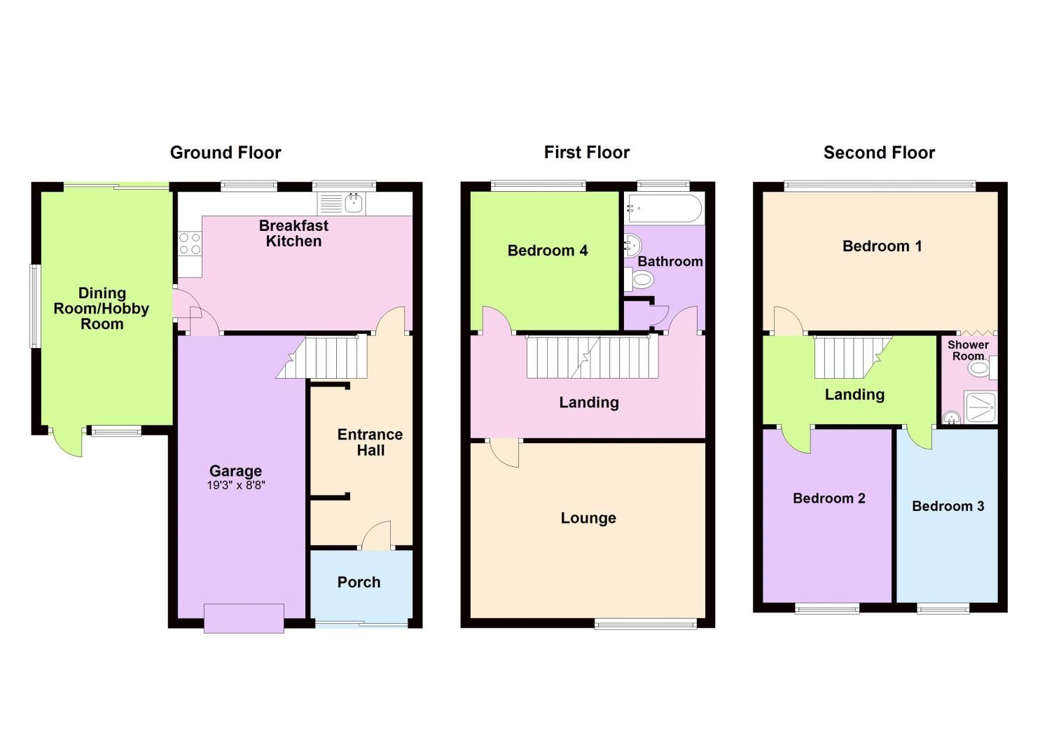 4 bed house for sale in Bond Street - Property Floorplan