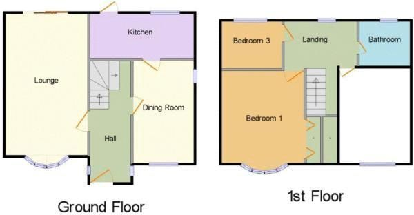 3 bed house for sale in Narrow Lane - Property Floorplan