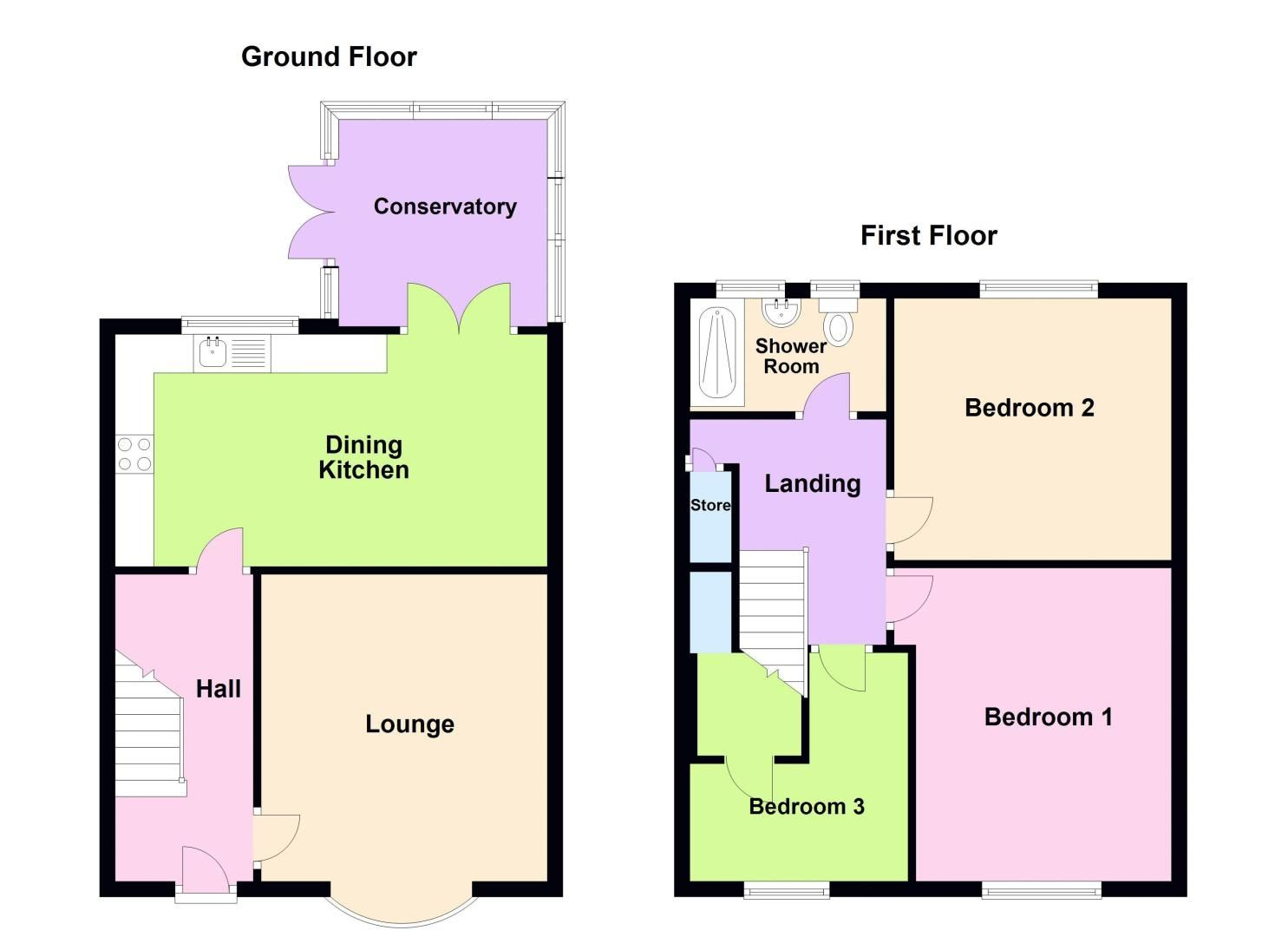 3 bed house for sale in Brook Road - Property Floorplan