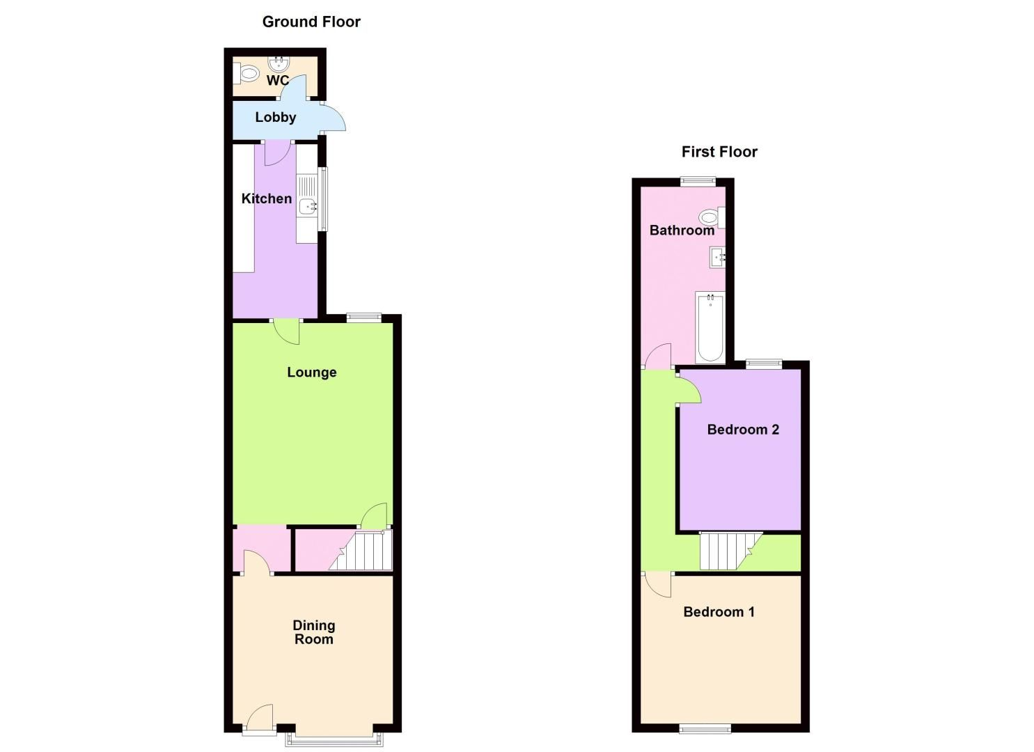 2 bed house to rent in Selsey Road - Property Floorplan